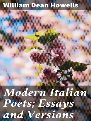cover image of Modern Italian Poets; Essays and Versions
