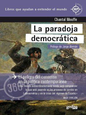 cover image of La paradoja democrática