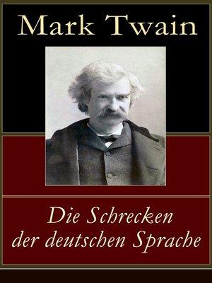 cover image of Die Schrecken der deutschen Sprache