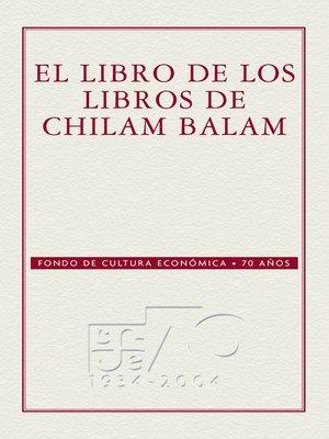 cover image of El libro de los libros del Chilam-Balam