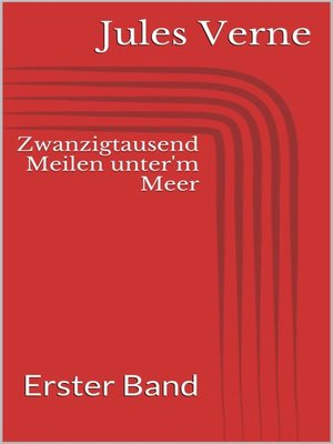 cover image of Zwanzigtausend Meilen unter'm Meer--Erster Band
