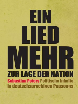 cover image of Ein Lied mehr zur Lage der Nation