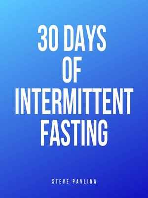cover image of 30 Days of Intermittent Fasting