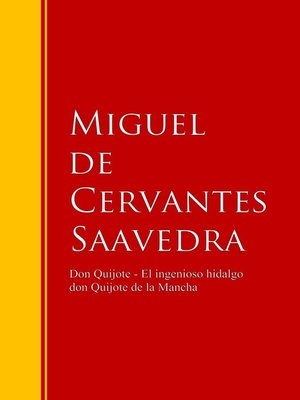 cover image of Don Quijote--El ingenioso hidalgo don Quijote de la Mancha