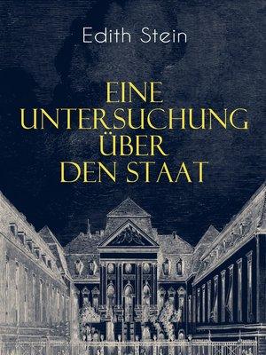 cover image of Eine Untersuchung über den Staat