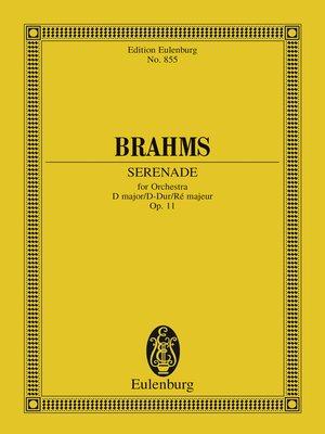 cover image of Serenade D major