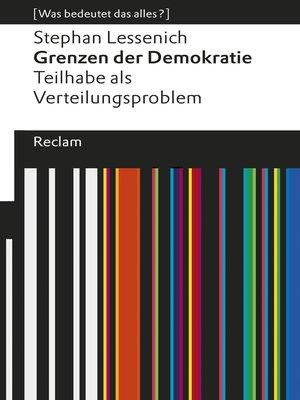 cover image of Grenzen der Demokratie. Teilhabe als Verteilungsproblem