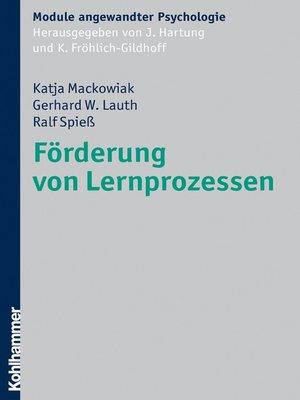 cover image of Förderung von Lernprozessen