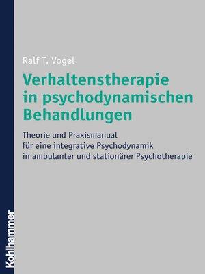 cover image of Verhaltenstherapie in psychodynamischen Behandlungen