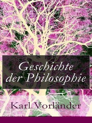 cover image of Geschichte der Philosophie