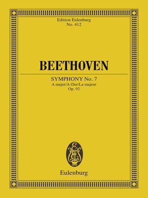 cover image of Symphony No. 7 a major