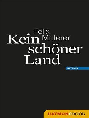 cover image of Kein schöner Land
