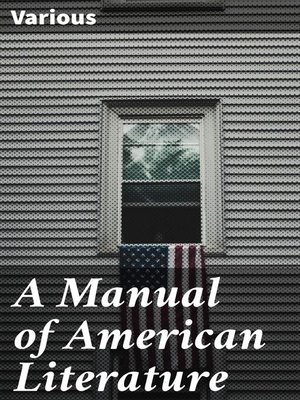 cover image of A Manual of American Literature