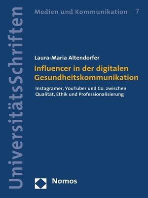 cover image of Influencer in der digitalen Gesundheitskommunikation
