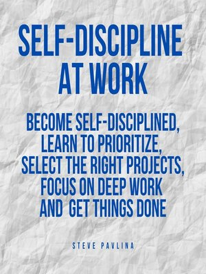 cover image of Self-Discipline at Work
