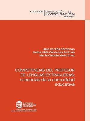 cover image of Competencias del profesor de lenguas extranjeras