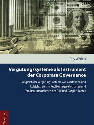 cover image of Vergütungssysteme als Instrument der Corporate Governance