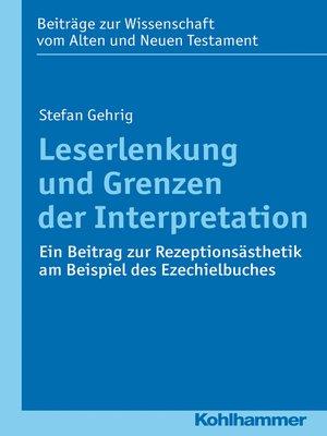 cover image of Leserlenkung und Grenzen der Interpretation