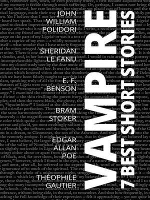 cover image of 7 best short stories--Vampire