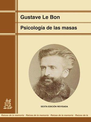 cover image of Psicología de las masas (edición renovada)