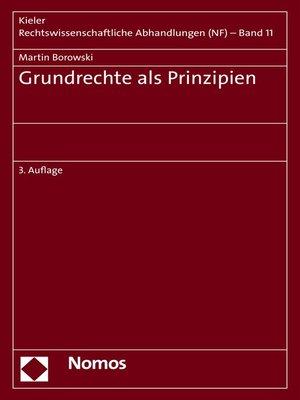 cover image of Grundrechte als Prinzipien