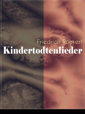 cover image of Kindertodtenlieder