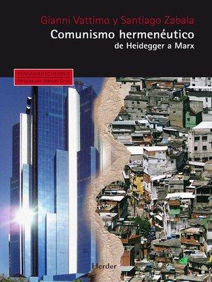 cover image of Comunismo hermenéutico
