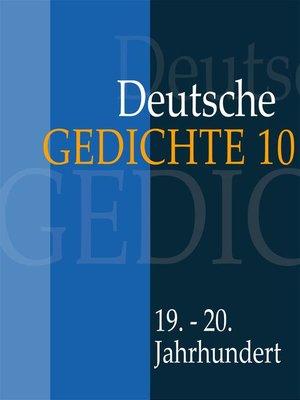 cover image of Deutsche Gedichte 10