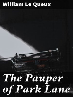 cover image of The Pauper of Park Lane