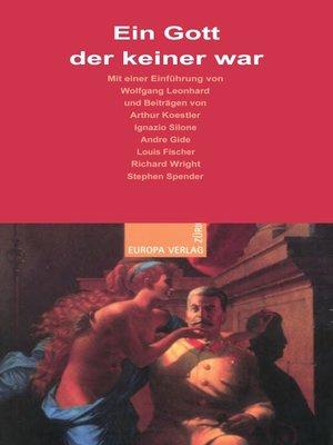 cover image of Ein Gott der keiner war