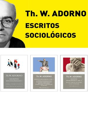 cover image of Pack Adorno III. Escritos Sociológicos
