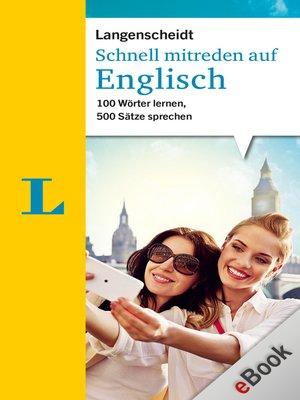 cover image of Schnell mitreden auf Englisch