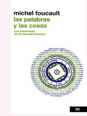 cover image of Las palabras y las cosas