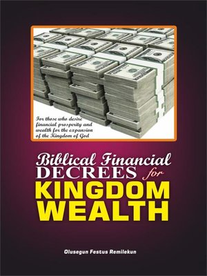cover image of BIBLICAL FINANCIAL DECREES FOR KINGDOM WEALTH