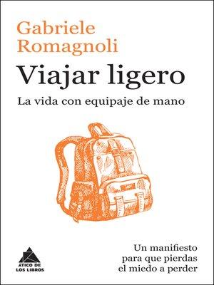 cover image of Viajar ligero
