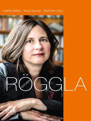 cover image of Kathrin Röggla