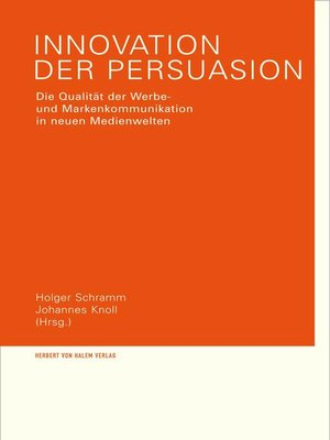 cover image of Innovation der Persuasion