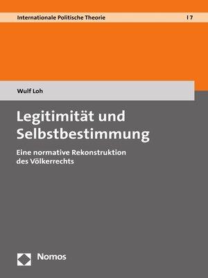 cover image of Legitimität und Selbstbestimmung