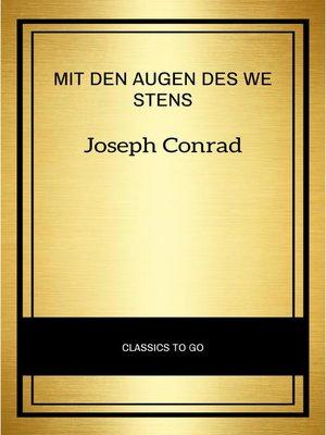 cover image of Mit den Augen des Westens