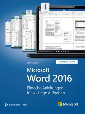 cover image of Microsoft Word 2016 (Microsoft Press)