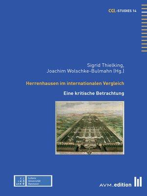 cover image of Herrenhausen im internationalen Vergleich