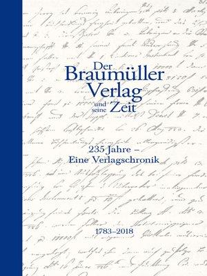 cover image of Der Braumüller Verlag und seine Zeit