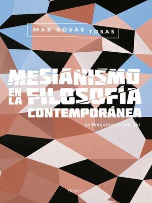 cover image of Mesianismo en la filosofía contemporánea
