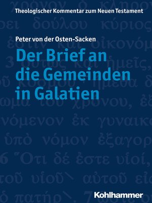 cover image of Der Brief an die Gemeinden in Galatien