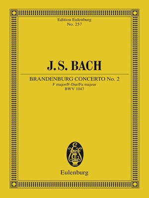 cover image of Brandenburg Concerto No. 2 F major