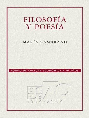 cover image of Filosofía y poesía