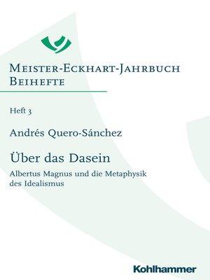 cover image of Über das Dasein