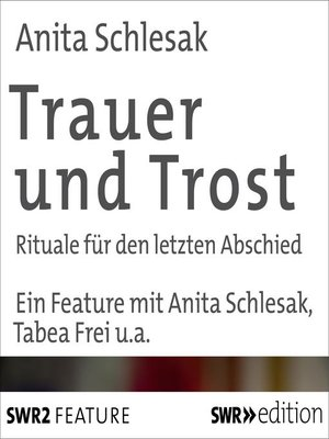 cover image of Trauer und Trost