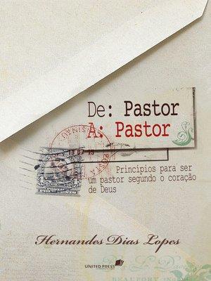 cover image of De pastor a pastor
