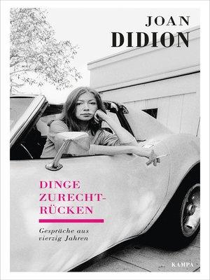 cover image of Dinge zurechtrücken